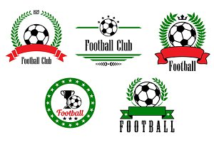 Football or soccer emblems and badge