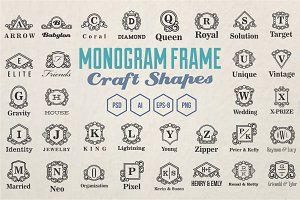 Monogram Frames Craft Shapes