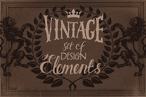 Vintage Design Heraldic elements.