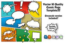 Vector Comic Page Template 1