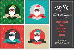 Make a hipster santa card