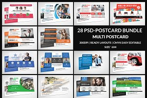 Postcard Bundle 28 Psd