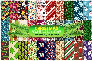 Christmas Seamless Pattern Set 2