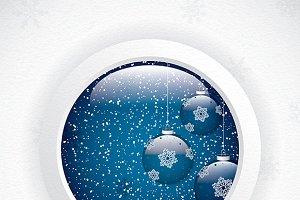 Glass globe with Christmas Scene