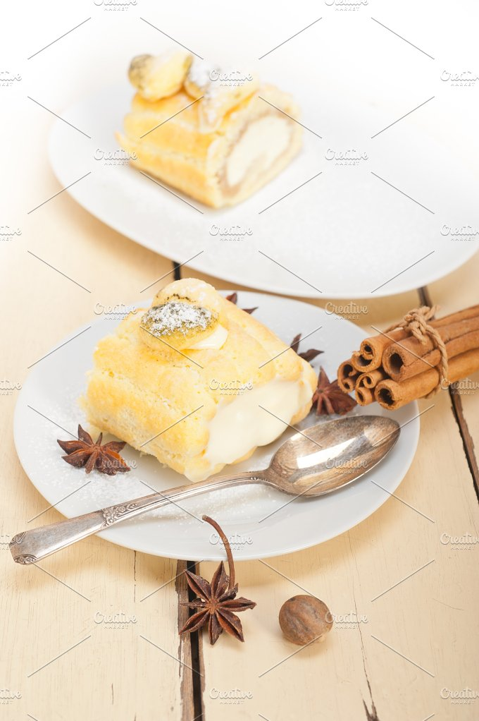 fresh cream roll cake and spices 006.jpg - Food & Drink