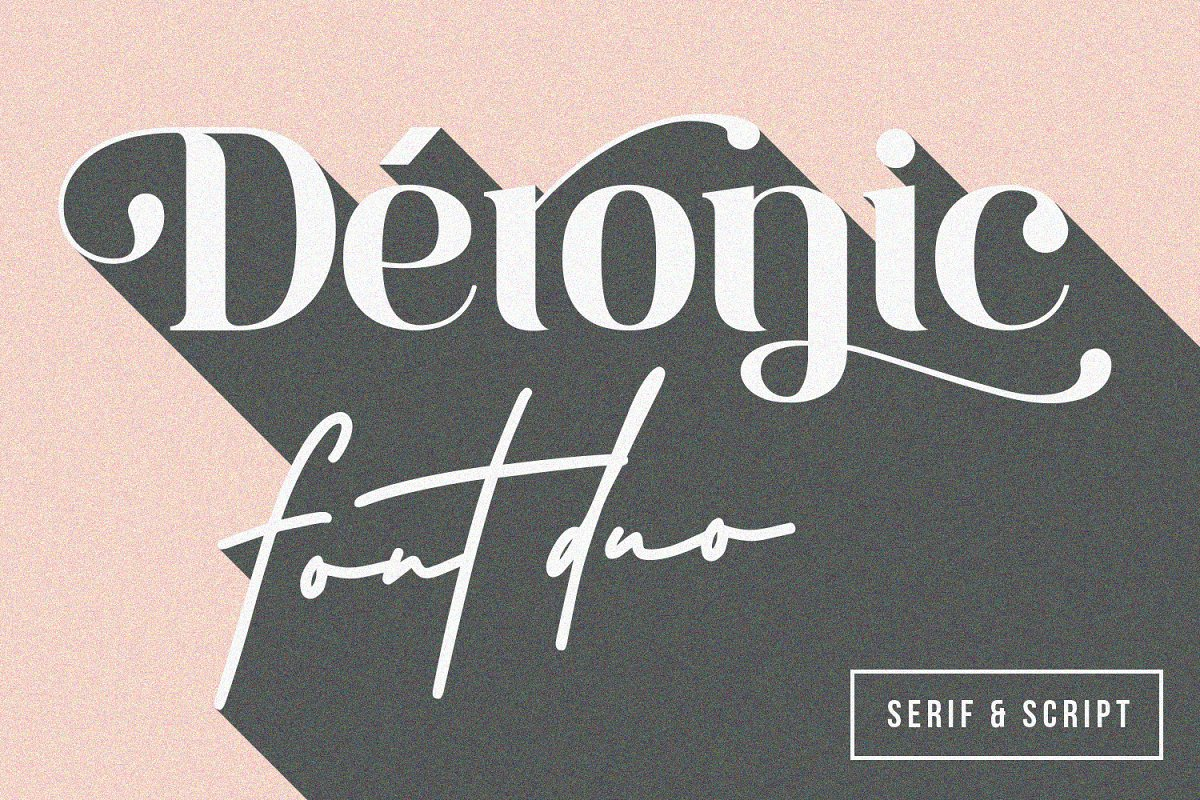 Deronic Font Duo in Display Fonts - product preview 8