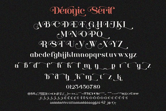Deronic Font Duo in Display Fonts - product preview 5