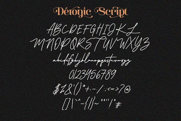 Deronic Font Duo in Display Fonts - product preview 9