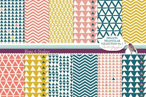 Organic Triangular Digital Paper