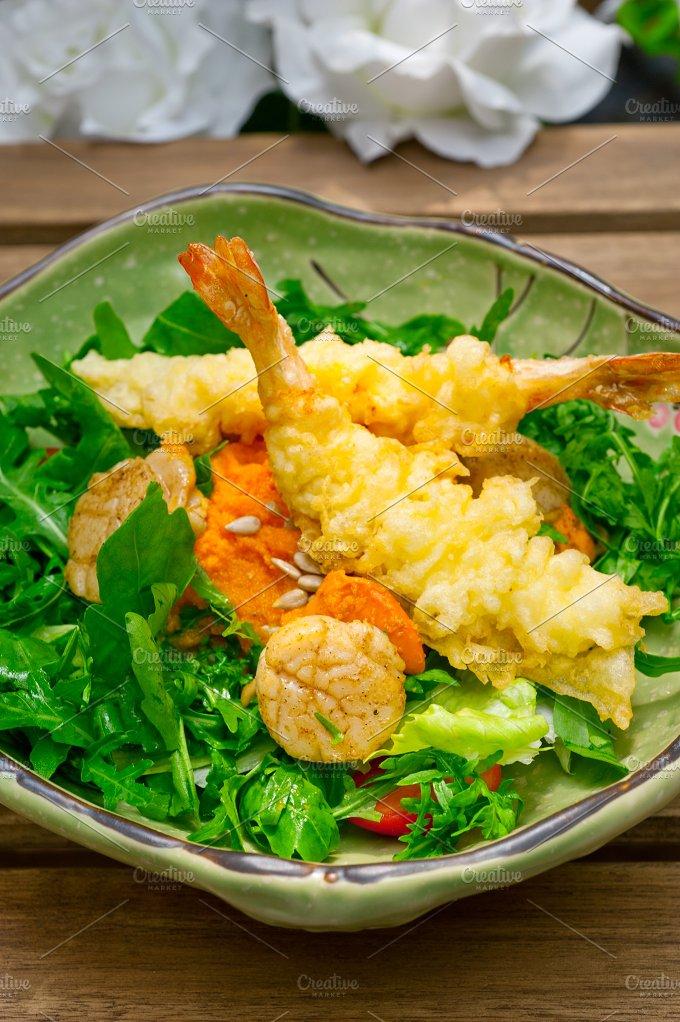japanese shrimps tempura and salad 009.jpg - Food & Drink