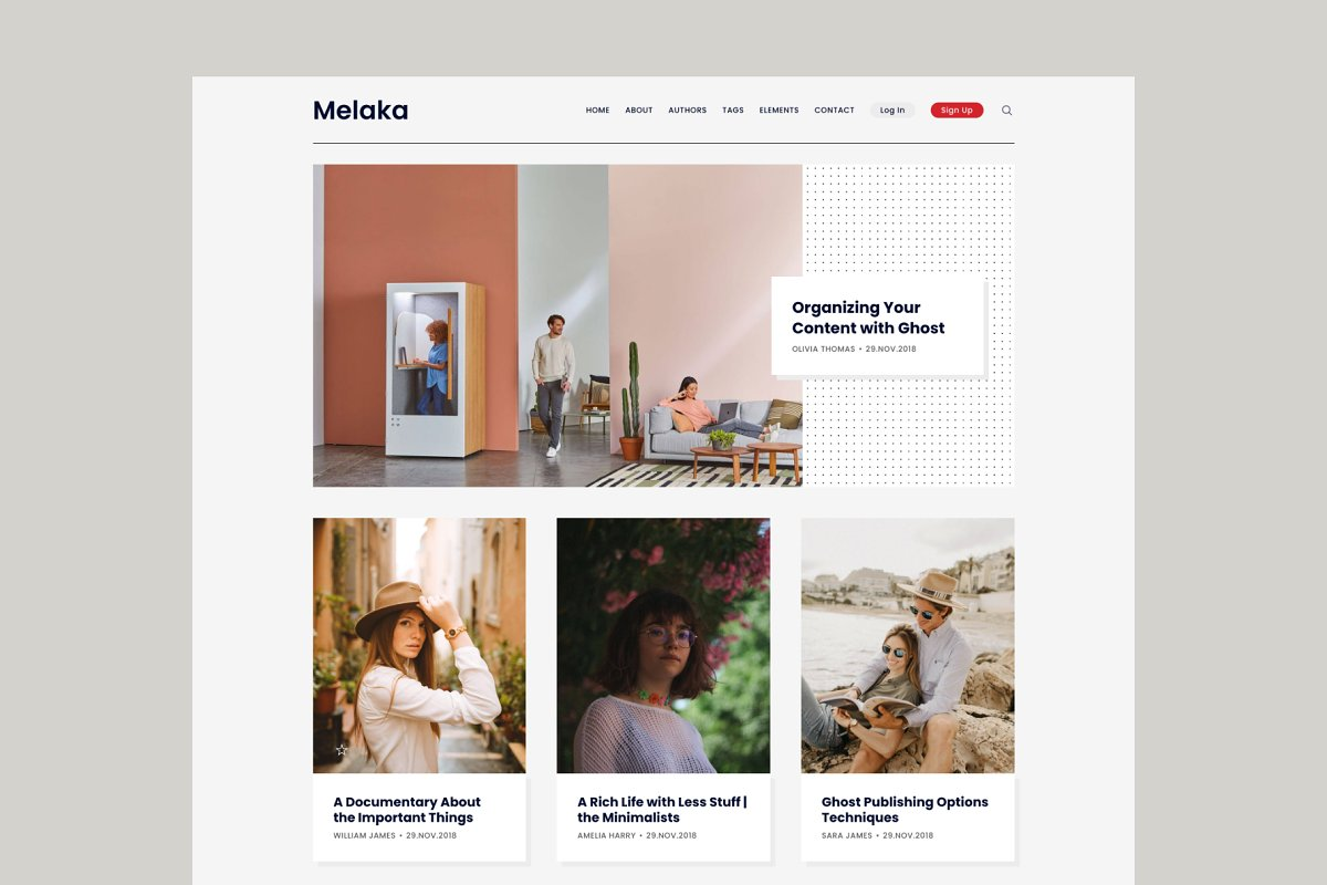 Melaka - Blog and Magazine Ghost 3.0