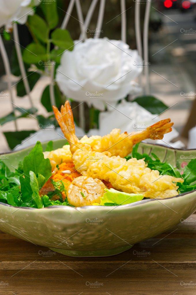 japanese shrimps tempura and salad 010.jpg - Food & Drink