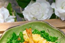 japanese shrimps tempura and salad 015.jpg