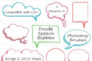 Doodle Speech Bubbles PS Brushes