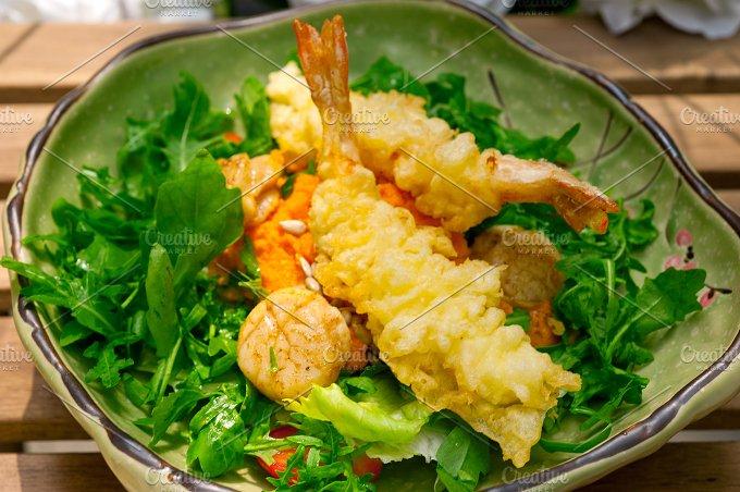 japanese shrimps tempura and salad 018.jpg - Food & Drink