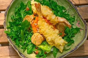 japanese shrimps tempura and salad 020.jpg