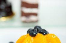 orange tangerine and blueberries cream cupcake 004.jpg