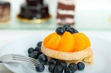 orange tangerine and blueberries cream cupcake 005.jpg