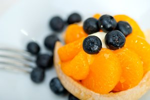 orange tangerine and blueberries cream cupcake 007.jpg