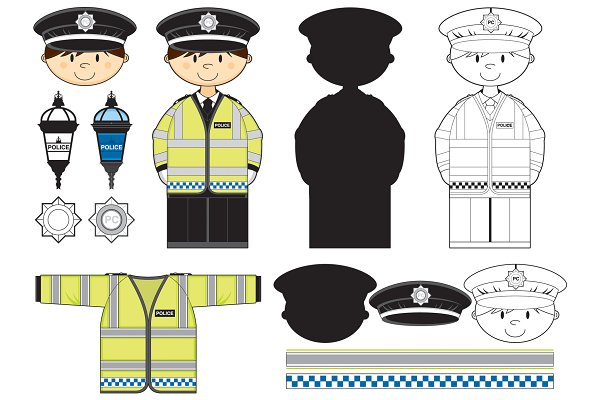 Police officers clipart image male and female 2 - Cliparting.com