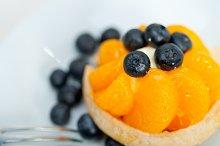 orange tangerine and blueberries cream cupcake 006.jpg