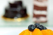 orange tangerine and blueberries cream cupcake 011.jpg