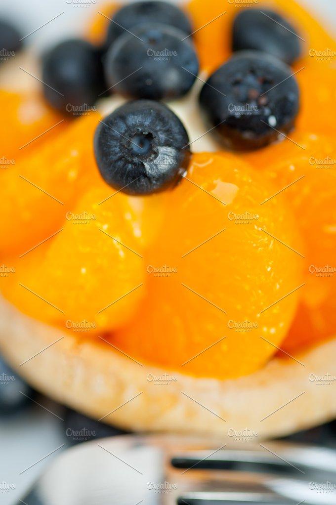orange tangerine and blueberries cream cupcake 017.jpg - Food & Drink