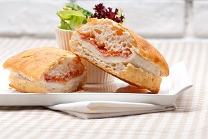Parma ham cheese and tomato ciabatta sandwich 05.jpg