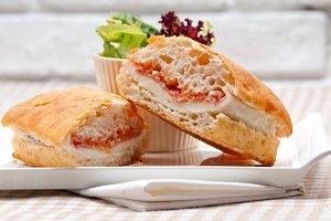 Parma ham cheese and tomato ciabatta sandwich 04.jpg