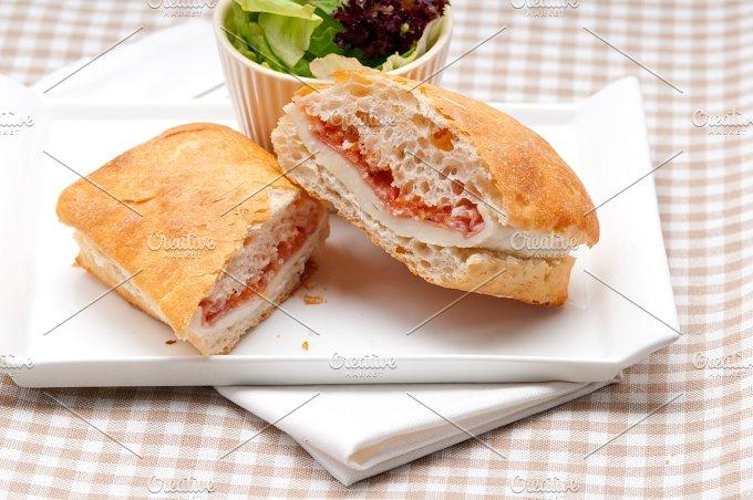 Parma ham cheese and tomato ciabatta sandwich 06.jpg - Food & Drink