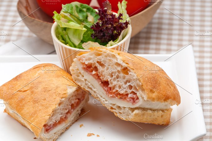 Parma ham cheese and tomato ciabatta sandwich 10.jpg - Food & Drink