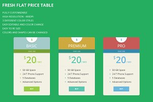 Fresh Flat Price Table