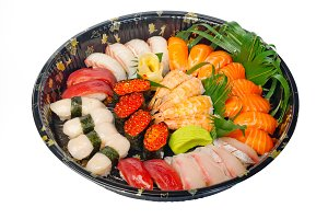 sushi take away plastic tray over white 002.jpg