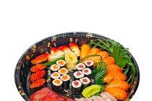 sushi take away plastic tray over white 006.jpg