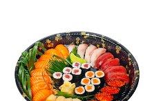 sushi take away plastic tray over white 004.jpg