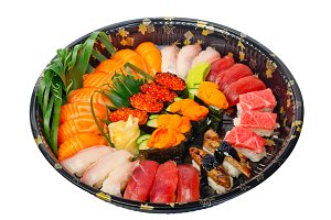 sushi take away plastic tray over white 007.jpg