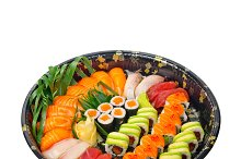 sushi take away plastic tray over white 010.jpg