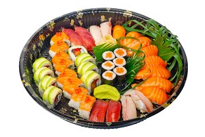 sushi take away plastic tray over white 012.jpg