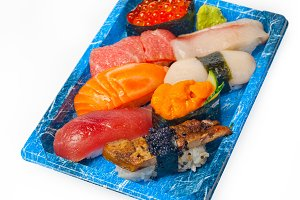 sushi take away plastic tray over white 037.jpg