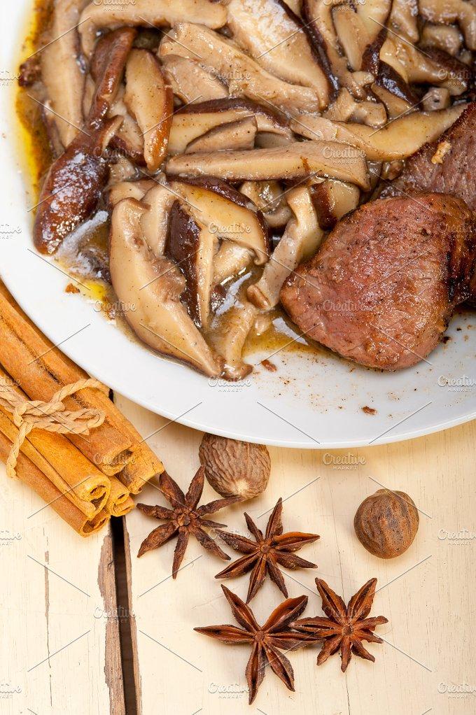 venison deer filet tenderloin with wild mushrooms 045.jpg - Food & Drink
