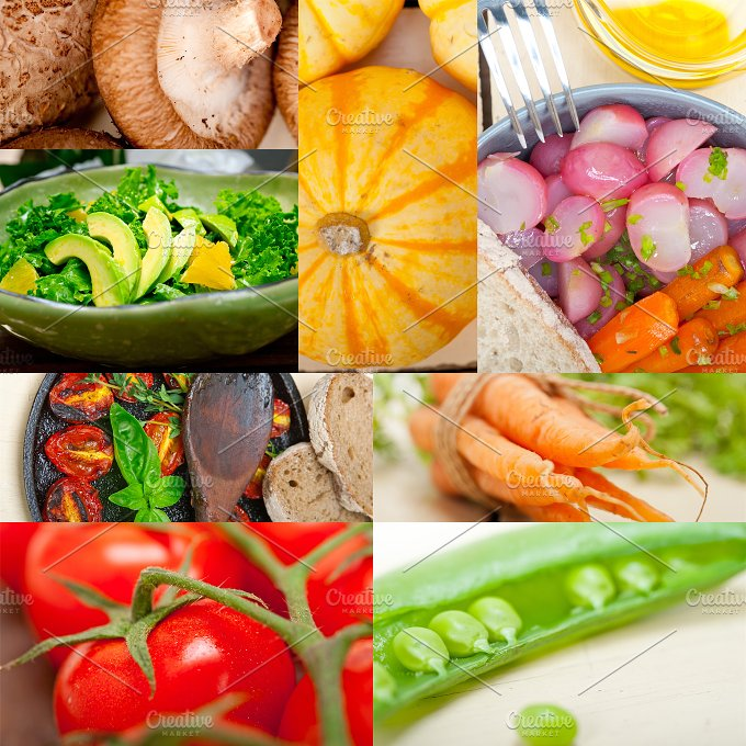 hearty vegetables collage A7.jpg - Food & Drink