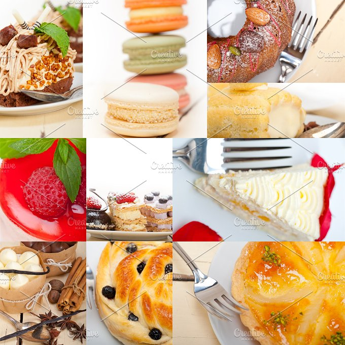 fresh cake dessert collage 1.jpg - Food & Drink