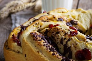 white bread with candied fruit