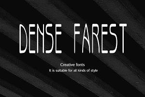 Dense forest-Creative font