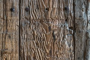 Weathered old rustic painted wood