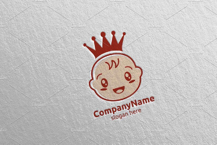 Cute Baby Smile Logo Design 5