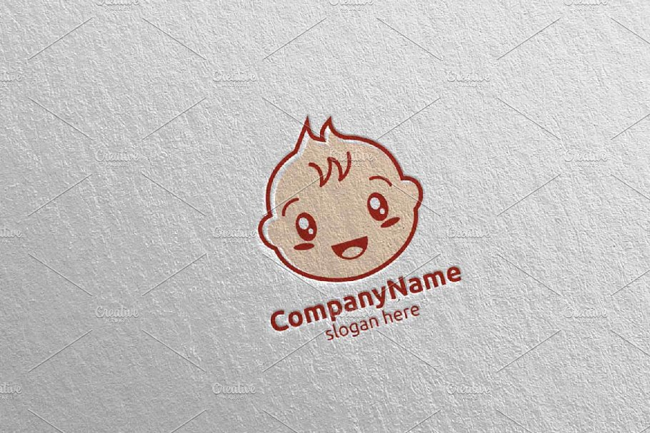 Cute Baby Smile Logo Design 6