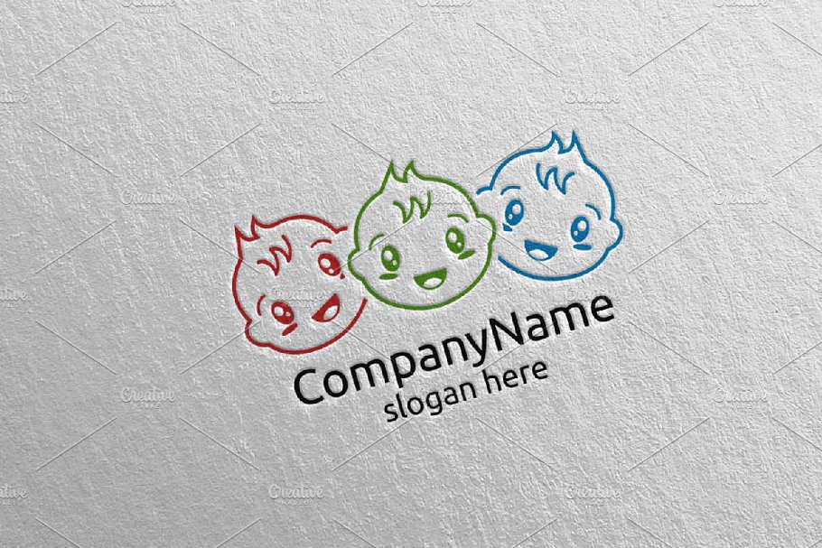 Cute Baby Smile Logo Design 7