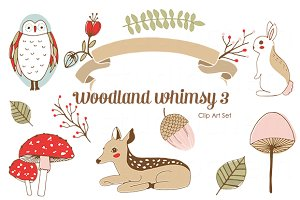 Woodland Whimsy 3 .png Clip Art Set
