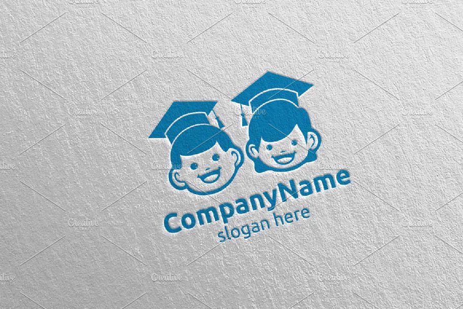 Cute Baby Smile Logo Design 8